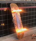 Skateboard light fixture by mark Bell @ Omega Lighting & Design