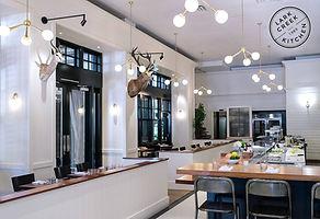 Custom restaurant lighting by Mark Bell at Omega Lighting & Design