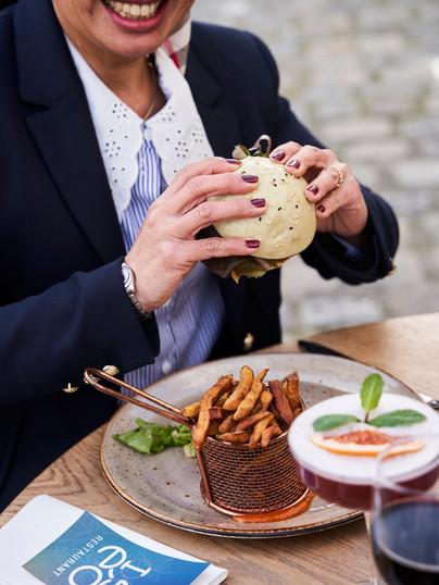 Restaurant Iséo La Rochelle, Bao burger et frites maison
