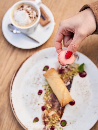 Restaurant Iséo La Rochelle, nem banane chocolat & macarons