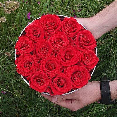Flower box z różami wiecznymi / Natura i Sztuka