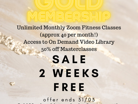 Gold Unlimited Membership free for two weeks if you sign up in March!