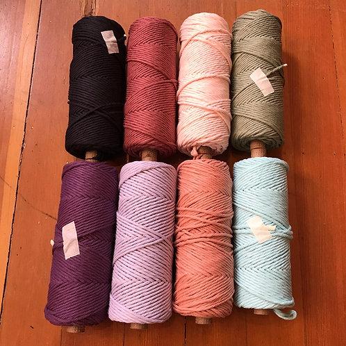 Macrame cord #6 - 1 pound tube (dyed)