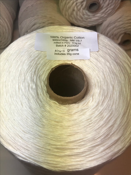 Organic cotton- 1 Kg cone