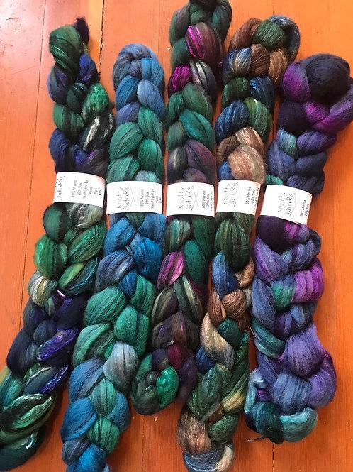 Hand dyed (by Ryan) silk/merino- 2oz