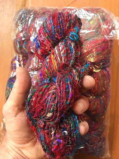 Spun Sari Silk- bag of 10