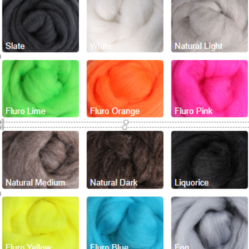 Merino Roving Group 'E'- 1 Ounce Braid