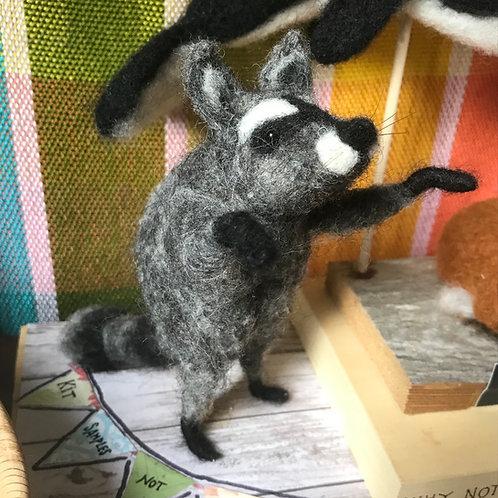 Raccoon Needle Felting Kit