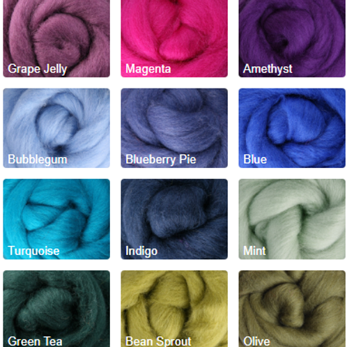 Merino Roving Group 'C'- 1 Ounce Braid