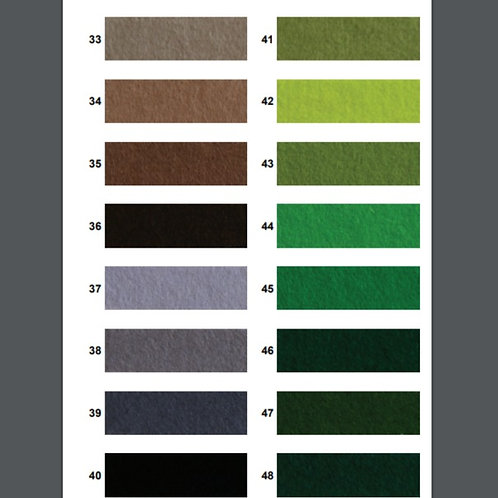 100% Wool Felt - 33-48