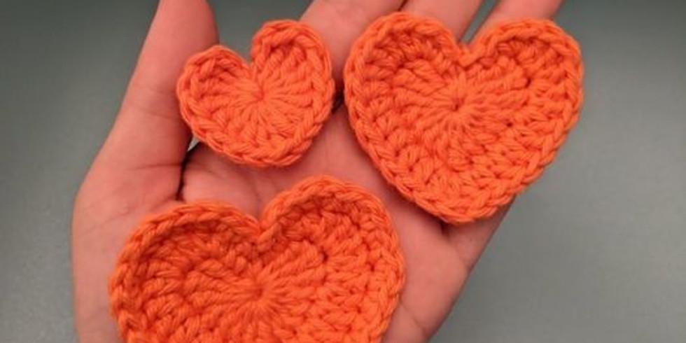 Learn to Crochet Hearts
