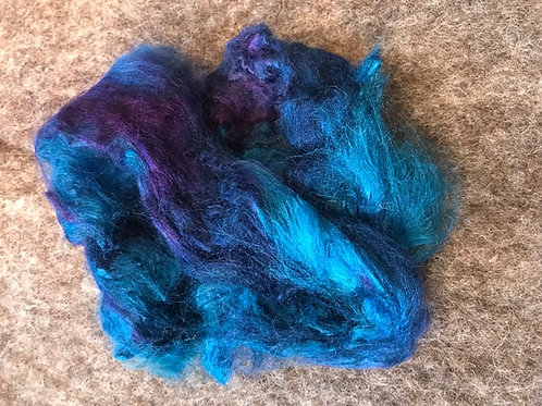 Hand dyed Tussah silk - 15 grams