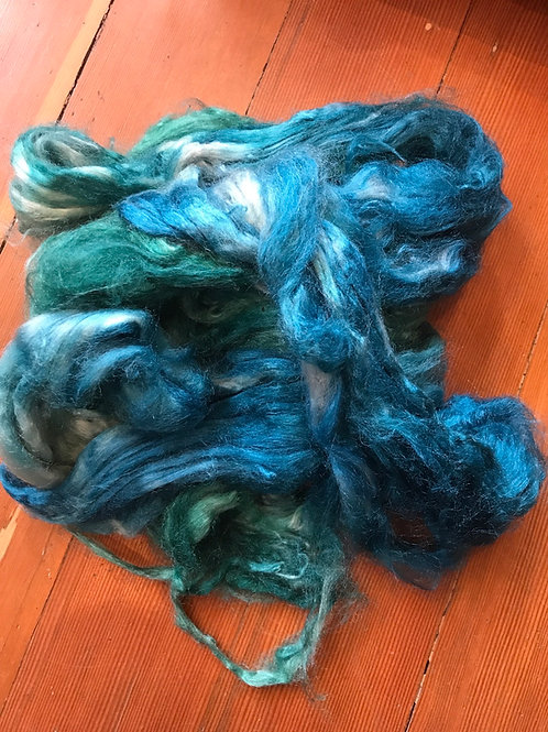Hand dyed Tussah silk - 25 grams