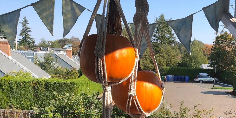 Macrame Pumpkin Hanger (Friday October 23)