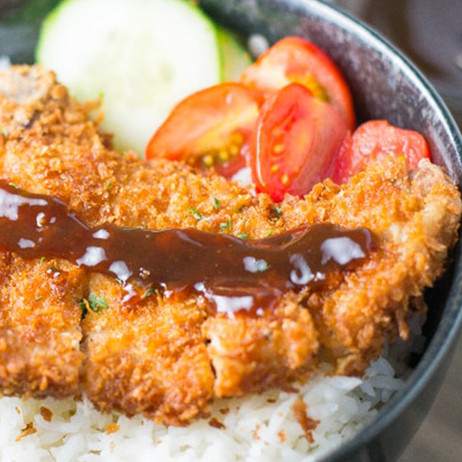 Tonkatsu is a Japanese meat dish consisting of a breaded, deep-fried pork cutlet, either fillet or loin. It is usually served with shredded cabbage.