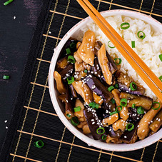 Teriyaki sauce is such a flavorful sauce. Heat oil in the wok; add sliced chicken whisk together sauce mixture. Delicious! Once served it warm with white rice.