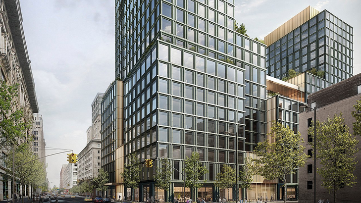SOM Architects release renderings of Disney's new HQ at 4 Hudson Square