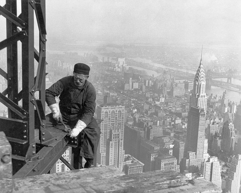Photo by Lewis Hine, edited by Durova - Edited version of Image:Old timer structural worker.jpg., Public Domain, https://commons.wikimedia.org/w/index.php?curid=3257190