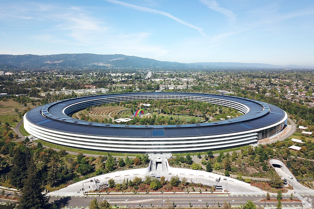 Apple Park in Cupertino, California, is valued at $3.6 billion, according to the county assessor. Photo: CoStar