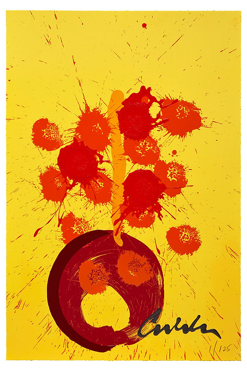 Hot Poppies Serigraph