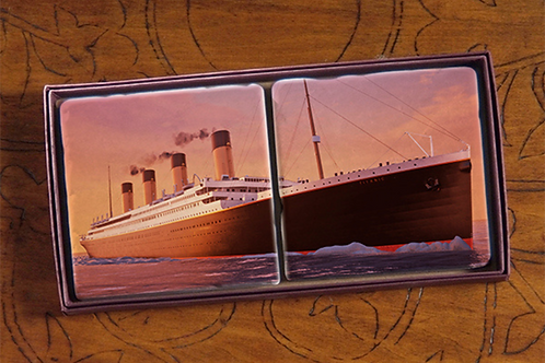 Sunset Titanic Marble Coaster Set