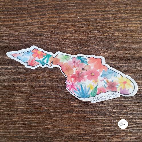 Island Shape Art Sticker