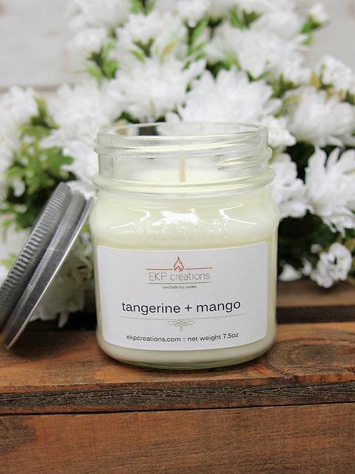 Tangerine & Mango 8 oz. Mason Jar Candle