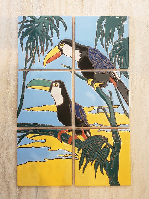 Catalina Toucan Mural Reproduction