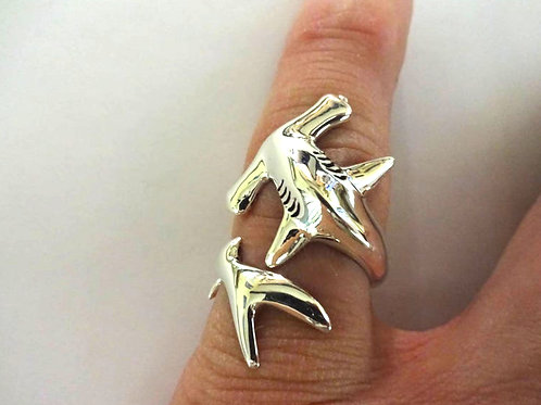 Small Hammerhead Shark Ring