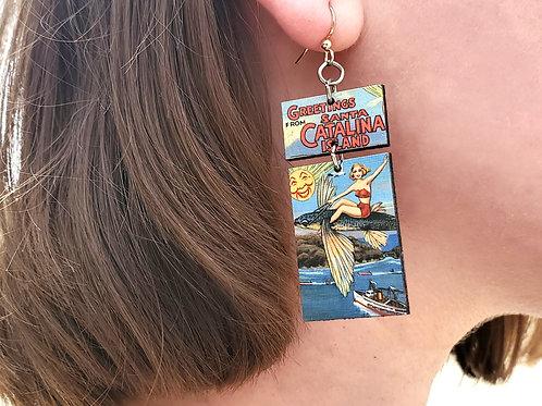 Flying Fish Greetings Earrings
