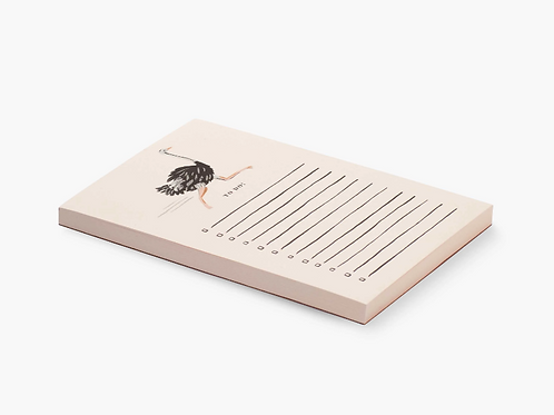 Rifle Paper Co. Ostrich Checklist Notepad