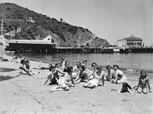 By the Beach Vintage Photo No. 005