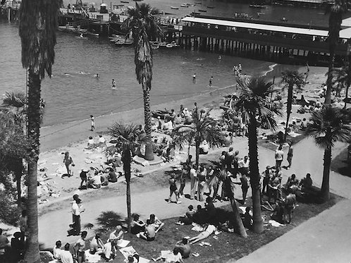 By the Beach Vintage Photo No. 011