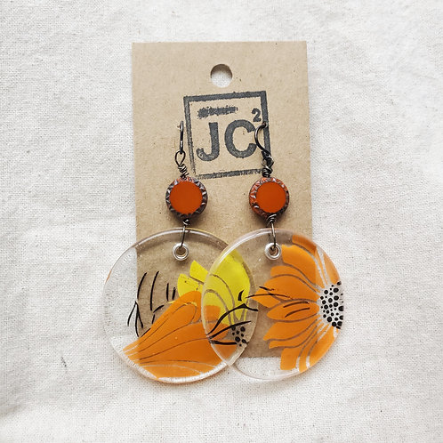 JC² Glass Art Earrings No. 1