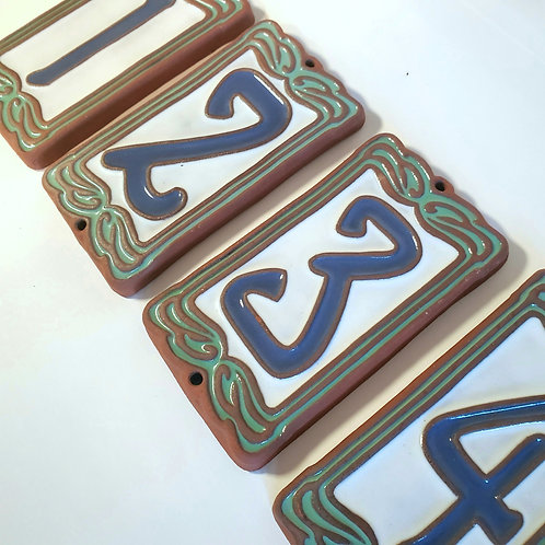 Tile House Numbers