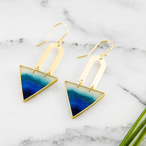Lagoon Triangle Earrings