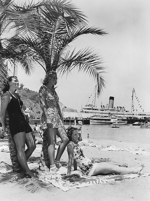 By the Beach Vintage Photo No. 001