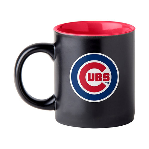 14 oz.Black Matte Cubs Mug