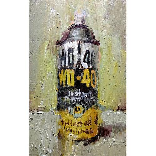 WD 40 painting by Bradford J Salamon