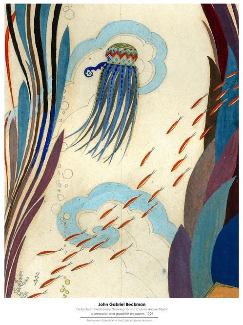 John Gabriel Beckman Poster, Jellyfish