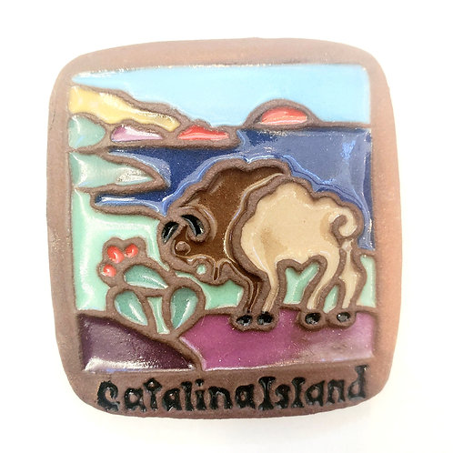 Tile Magnet: Bison