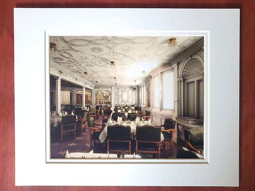 1st Class Dining Saloon Matted Print