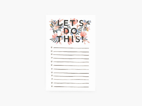Rifle Paper Co. Let's Do This! Checklist Notepad