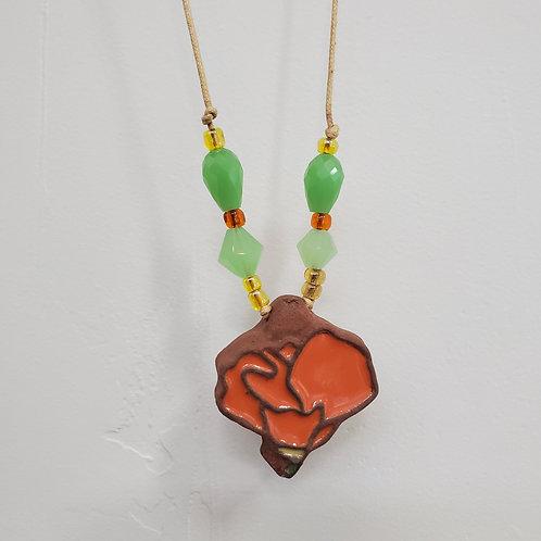 CA Poppy Tile Necklace