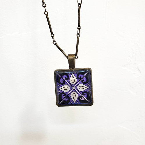 Purple Catalina Tile Necklace