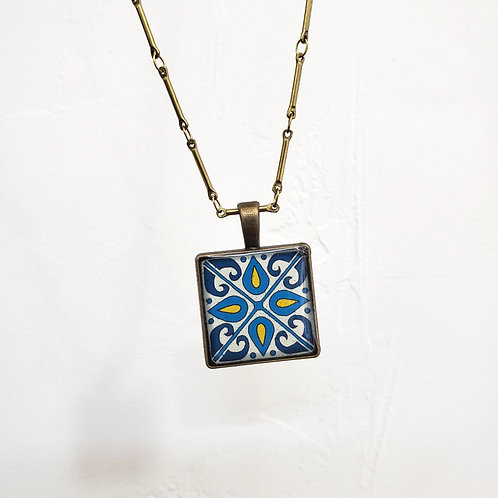 Turquoise Catalina Tile Necklace
