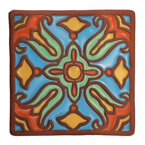 6x6 Topanga Tulip Sky Tile