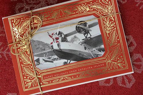 Seaplane Santa Foil Press Card Set