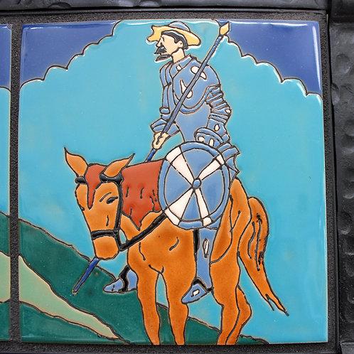 Don Quixote & Sancho Panza Tile Mural