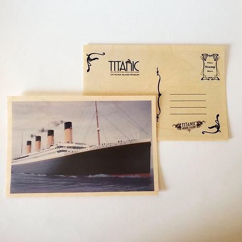 Titanic Wooden Postcard